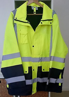 Escape Hi-Vis Four Seasons Waterprooof Jacket With Reflective Tape