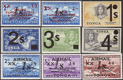 Tonga 1969 SG271 Emergency Provisionals Imperf set MNH