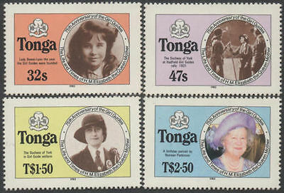 Tonga 1985 SG915B Life and Times of Queen Mother perforated set MNH