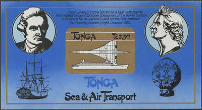 Tonga 1983 SG838 $2.50 Canberra Liner and Concorde MS MNH