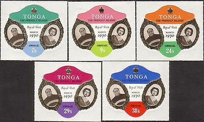 Tonga 1970 SG310 Royal Visit airmail set MNH