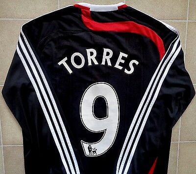 Authentic Adidas Liverpool 07/08 L/S Third Jersey - Torres 9. Mens S, Exc Cond.
