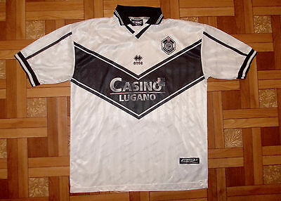 Lugano Switzerland 2000/2001 Football Shirt Trikot Jersey #27 Grubesic Size Xxl