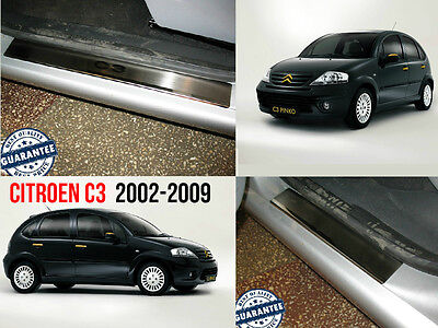 Citroen C3 2002-09 Stainless Steel Door Sill Entry Guard Covers Trim Protectors