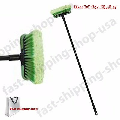 """Perfect Wash Vehicle Brush Car Truck SUVs RVs Soft Cleaning 8"""" Head 48"""" Handle"""