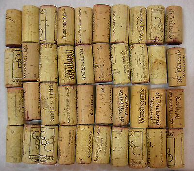 40~Used Natural Wine Corks from both Red and White Wines-Different Wineries