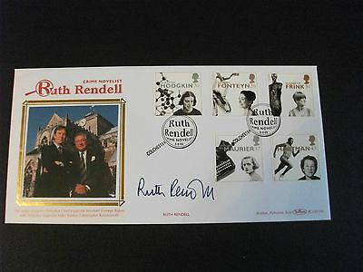 Ruth Rendell Fdc Signed By Ruth Rendell Rare