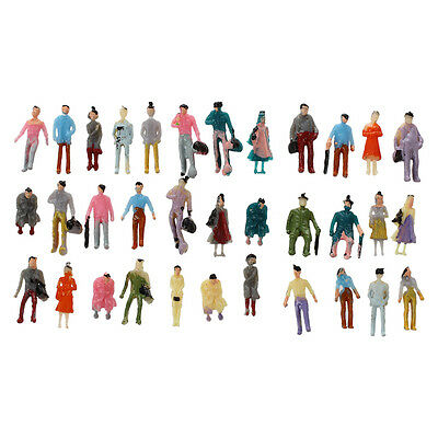 100pcs Painted Model Train Passenger People Figures Scale 1:150 BF
