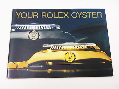 YOUR ROLEX OYSTER Instruction Booklet Manual ENGLISH: 1988-1989