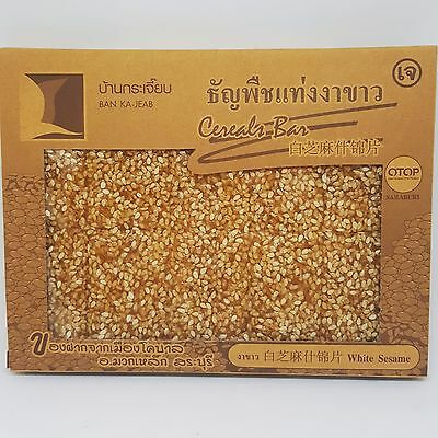 Ambrosial Cereals Thai Dried  snack White Sesame Bar Healthy Crunchy  100 g