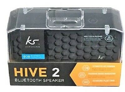 KitSound Hive 2 Bluetooth & Wired Connectivity, Built-in Microphone  - BLACK