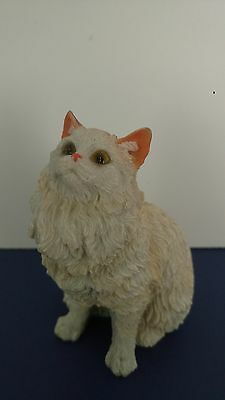 Beautiful White Persian  Cat Figurine 4' Tall
