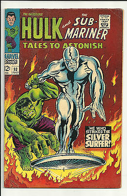 Tales to Astonish #93  VF- 7.5 Jul 1967, Hulk, Silver Surfer