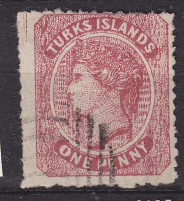 Turks and Caicos 1873 Sg 1 good used but forgery