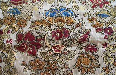 Vintage Belgium Deco Embroidered Pillow Cover Case Arts Crafts Era Tapestry