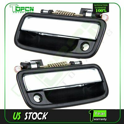 2Pcs Black Exterior Door Handles Front Right Left Side for 95-04 Toyota Tacoma