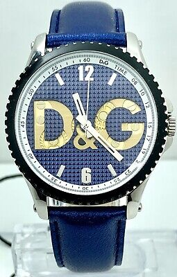 Dolce And Gabbana Women's DW0709 Round Watch Gear Dial  Blue Strap Watch