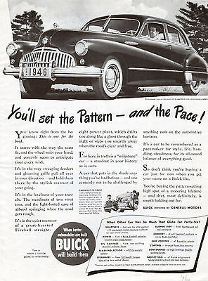 1946 Buick Car ad ----Fire-Ball Straight Eight ----x1020
