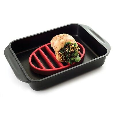 Roast Roasting Rack / Trivet.  Non-stick silicone for healthy BPA-free Cooking