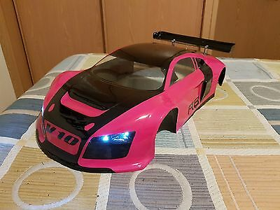 Kyosho Inferno Gt2 Chassis Body Led Audi R8  1/8 360Mm Wheelbase