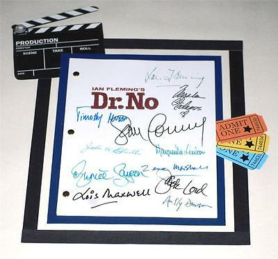 Dr. No  007 James Bond Signed Script Rpt Ian Fleming Sean Connery  Jack Lord