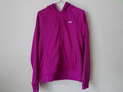 NEW Ladies Under Armour Storm fleece full zip hoodie in Cerise Pink - Size M