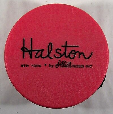 Vintage '70s Halston Ruby Red Plastic Wig Box!
