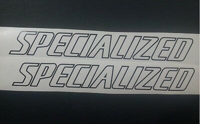 Specialized outline style vinyl cut sticker / decal PAIR 285mm x 38mm.