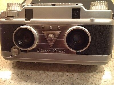 TDC Stereo Vivid 3D Camera  Vintage 35mm Film Manual Bell and  Howell TDC