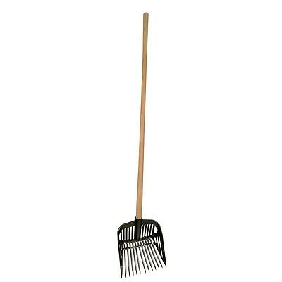 Kerbl Plastic Manure Dung Fork Stable Yard Equestrian Mucking Cleaner Tool 32889