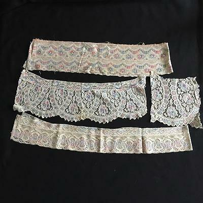 FOUR 1920's ANTIQUE VINTAGE LACE PIECES