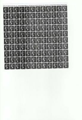 1840 GB ONE PENNY BLACK STAMP TWO SHEET OF 120(TOP and BOTTOM HALF(GUMMED)(COPY)