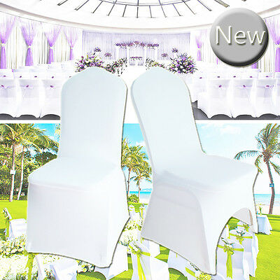 White Chair Cover Spandex Lycra Fla Archet Fron Cover for Wedding Banquet  Party