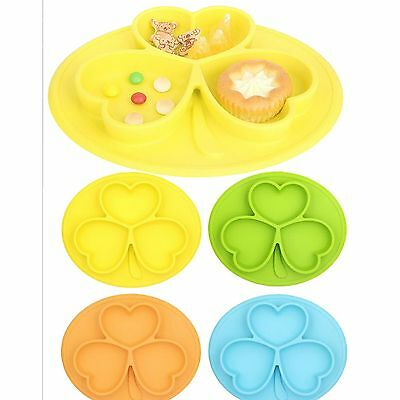 One-Piece Silicone Placemat Food Plate Table Mat for Baby Toddler Kids