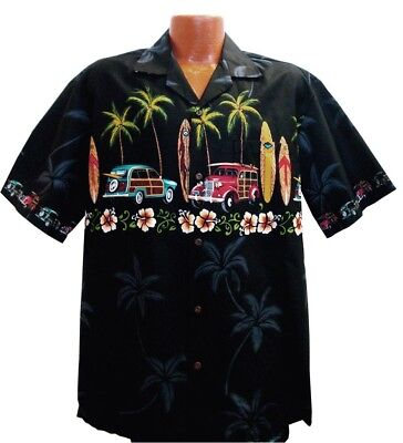 c706d713 MADE IN HAWAII Men Hawaiian Aloha Shirt Luau Cruise Pink Flamingos ...