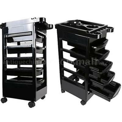 Hairdressing Storage Trolley Beauty Salon Spa Rolling Cart Barber Station F4H1