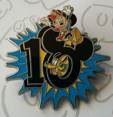 Minnie Mouse & Pluto 2010 Dated Starburst Starter Ten 10 Pin Buy 2 Save $