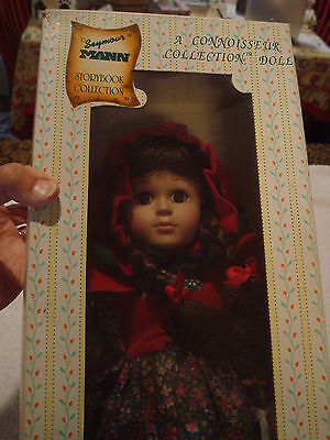 Nib Little Red Riding Hood Porcelain Doll Seymour Mann Storybook Collection