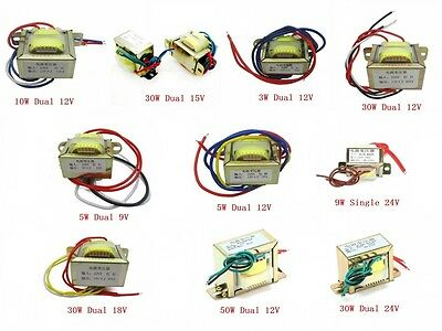 AC 220V 50Hz Power Transformers 3W 5W 9W 10W 30W 50W Dual/Single Output 9V-24V