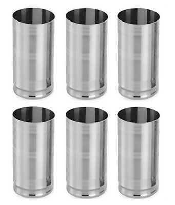 Set Of 6 Pcs Stainless Steel Small Drinking Glasses Silver Gifting Glasses Set