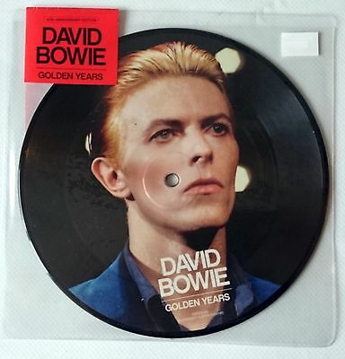 """DAVID BOWIE - GOLDEN YEARS 7"""" 2015 - 40th ANNIVERSAY PICTURE DISC - NEW SEALED"""