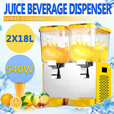 36L Getränkespender Kaltgetränke Dispenser Bubbler Cold Drink 2 Tanks GREAT