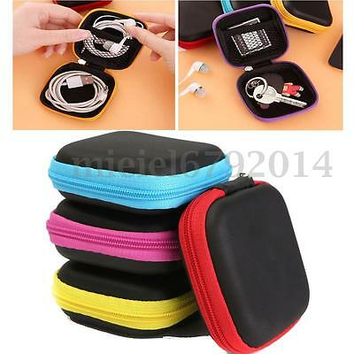 Storage Bag Carrying Hard Hold Case For Earphone Headphone Earbuds For SD Card
