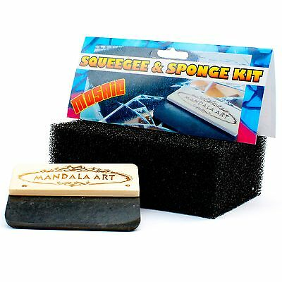Mandala Art MOSAIC SQUEEGEE & SPONGE CRAFT KIT Removes Grout BLACK *Aust Brand