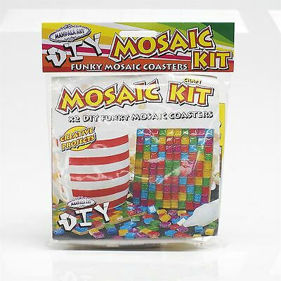 Mandala Art DIY MOSAIC COASTER CRAFT PROJECT KIT Ideal Gift *Australian Brand