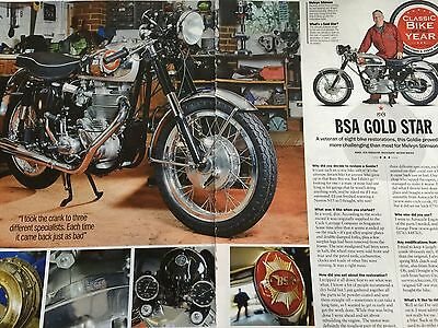 Bsa Gold Star # 1963 Model # 3 Page Original Motorcycle Article