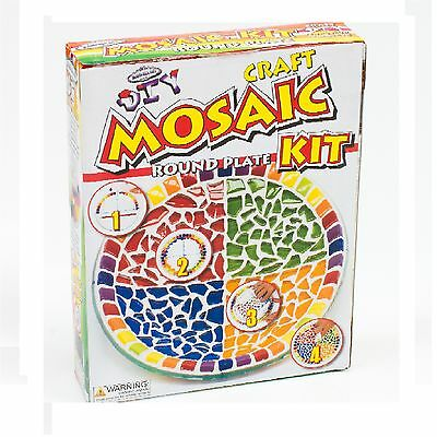 Mandala Art MOSAIC ROUND PLATE CRAFT KIT For Adults & Older Children *Aust Brand