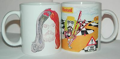 ROY WOOD - 'BOULDERS & MUSTARD' : Set of 2 11oz COLLECTORS MUGS - **COLLECTABLE