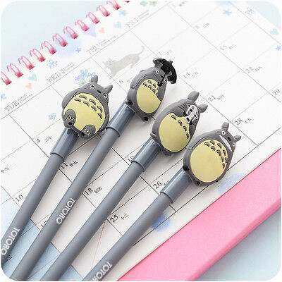 4pcs Cute Anime My Neighbour Totoro Gel Pen School Office Stationery Kids Gift