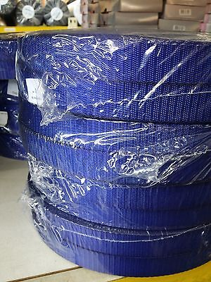 25mm, 1 inch, BLUE High Quality Terylene Webbing Strapping 1 - 25 Metre Lengths